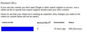Blocked URL's