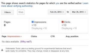 Author Stats Webmaster Tools